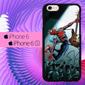 Spiderman Rock n Roll L2880 fundas iPhone 6, iPhone 6S