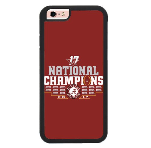 Alabam Crimson National Champions L3074 fundas iPhone 6, iPhone 6S