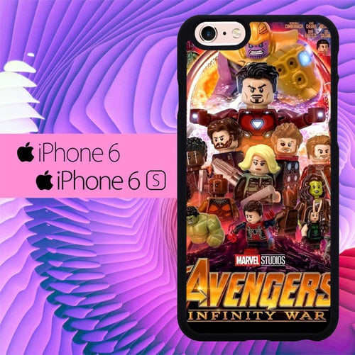 Avengers Infinity Wars Lego L3075 fundas iPhone 6, iPhone 6S