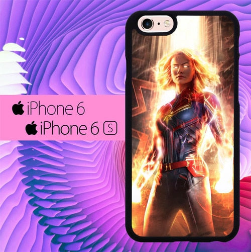 Captain Marvel L3103 fundas iPhone 6, iPhone 6S