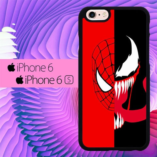 Spiderman x Venom L3227 fundas iPhone 6, iPhone 6S