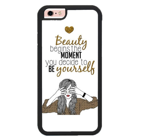 BEAUTY BEGINS THE MOMENT W9234 fundas iPhone 6, iPhone 6S