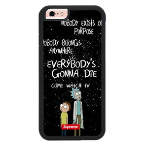 rick and morty W9371 fundas iPhone 6, iPhone 6S