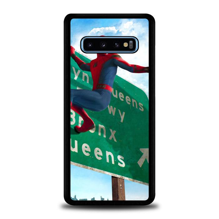 coque custodia cover fundas hoesjes j3 J5 J6 s20 s10 s9 s8 s7 s6 s5 plus edge B35902 SPIDERMAN ON STREET J0228 Samsung Galaxy S10 Case