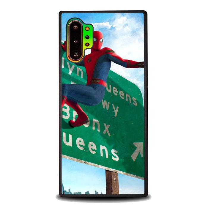 coque custodia cover fundas hoesjes j3 J5 J6 s20 s10 s9 s8 s7 s6 s5 plus edge B35905 SPIDERMAN ON STREET J0228 Samsung Galaxy Note 10 Plus Case