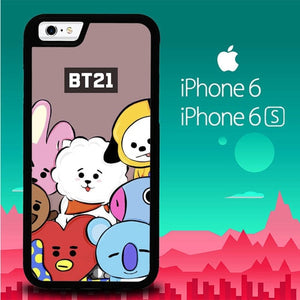 BTS BT21 P1109 fundas iPhone 6, iPhone 6S