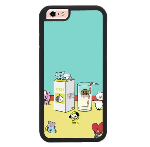 BTS BT21 Food And Drink KPOP P1884 fundas iPhone 6, iPhone 6S