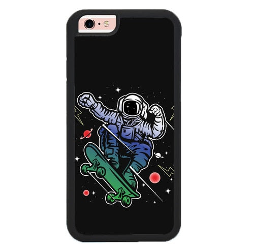 Astro Skateboard To Moon And Back P1925 fundas iPhone 6, iPhone 6S