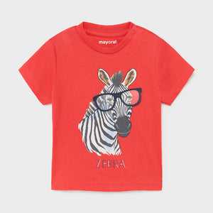 S/s T-shirt Play Zebra for Baby Boy Cyber Red