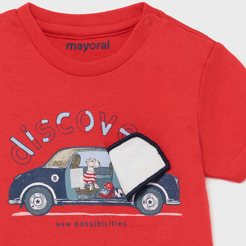 S/s T-shirt Play Car for Baby Boy Cyber Red
