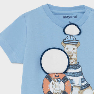 S/s T-shirt Play Dogs for Baby Boy Lavender