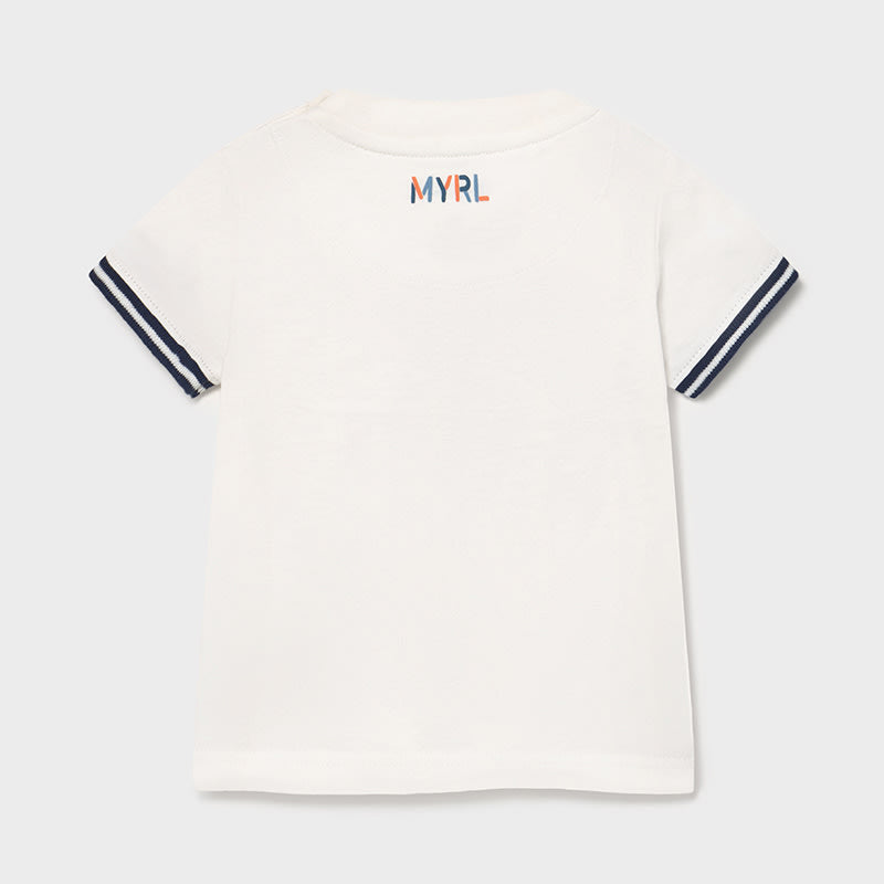 S/s T-shirt Je Suis for Baby Boy Cream