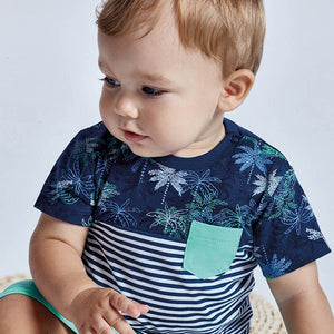 S/s Blocks T-shirt for Baby Boy Blue