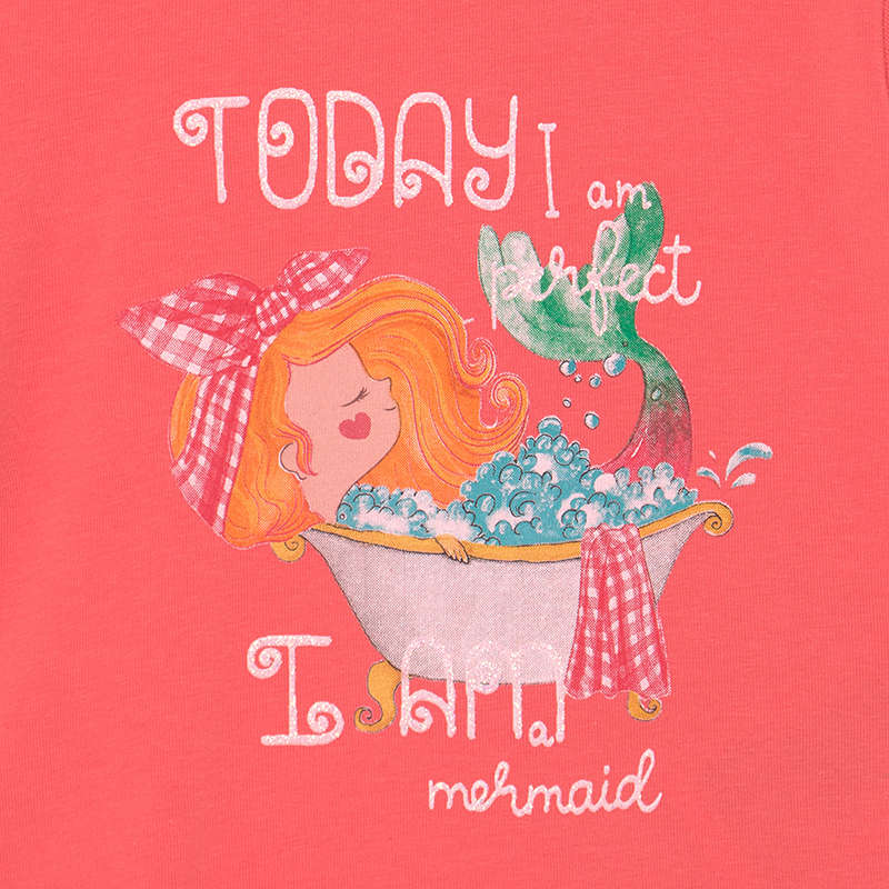 S/s T-shirt for Baby Girl Coral