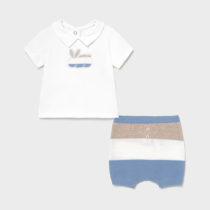 Shorts Set for Newborn Boy Lightblue
