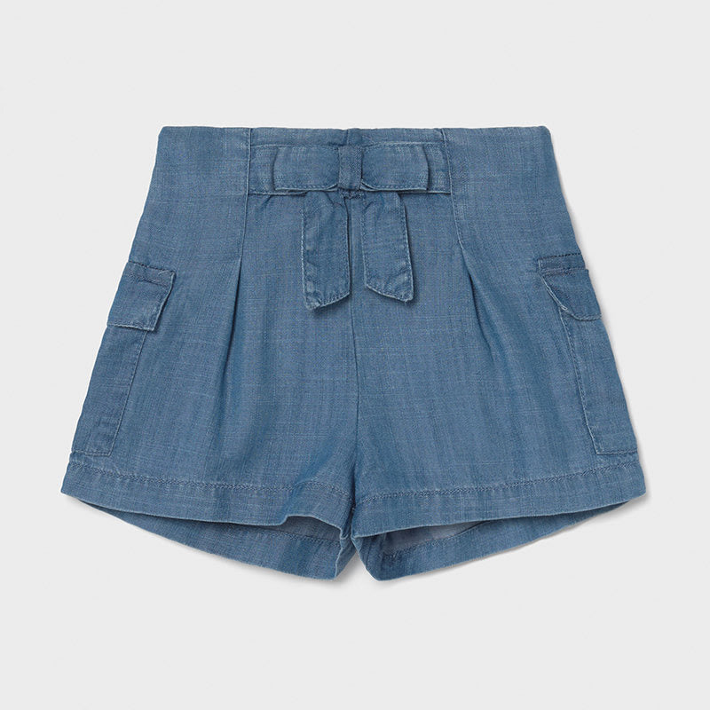 Short Oant for Baby Girl Indigo