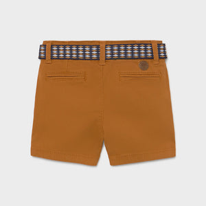 Pique Shorts W/ Belt for Baby Boy Cookie