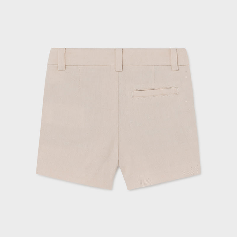 Linen Dressy Shorts for Baby Boy Canvas