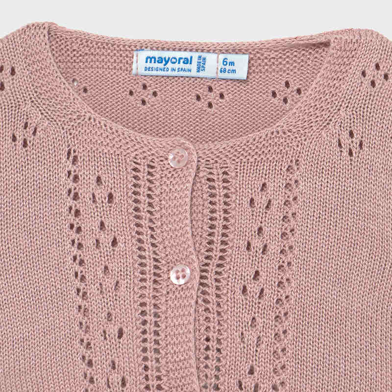 Knitting Cardigan for Baby Girl Pink
