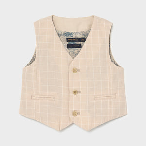 Dressy Linen Vest for Baby Boy Canvas