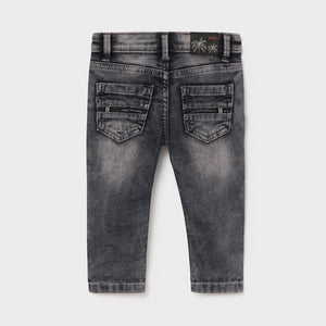 Soft Denim Jeans for Baby Boy Gray