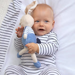 Load image into Gallery viewer, Striped Long Onesie for Newborn Boy Navy