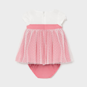 Mixed Ceremonial Dress for Newborn Girl Soft Pink