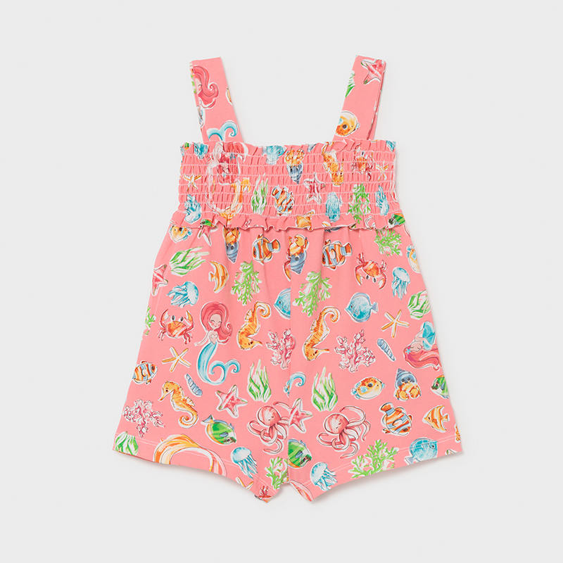 Knit Printed Jumpsuit for Baby Girl Flamingo