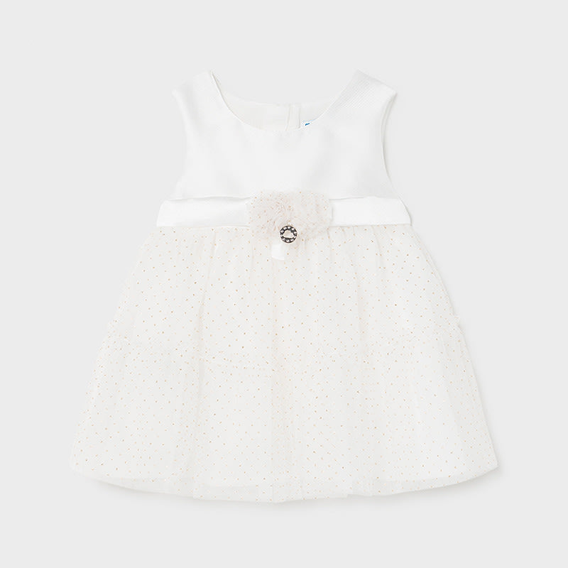 Voile Dress for Baby Girl Natural