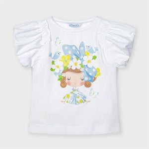 S/s Doll Shirt for Girl Whit-skybl