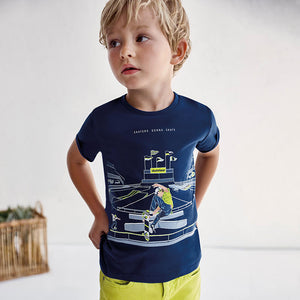 S/s Glow In The Dark T-shirt for Boy Rain