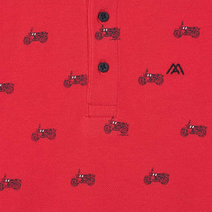 S/s Polo for Boy Cyber Red