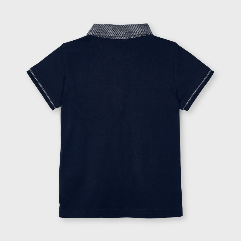 Tailored S/s Polo for Boy Navy