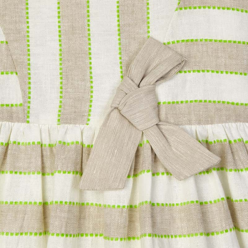 Stripes Linen Dress for Girl Linen