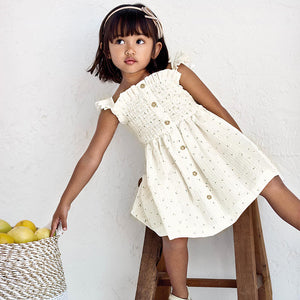 Printed Dress for Girl Natural