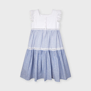 Stripes Dress for Girl Ink