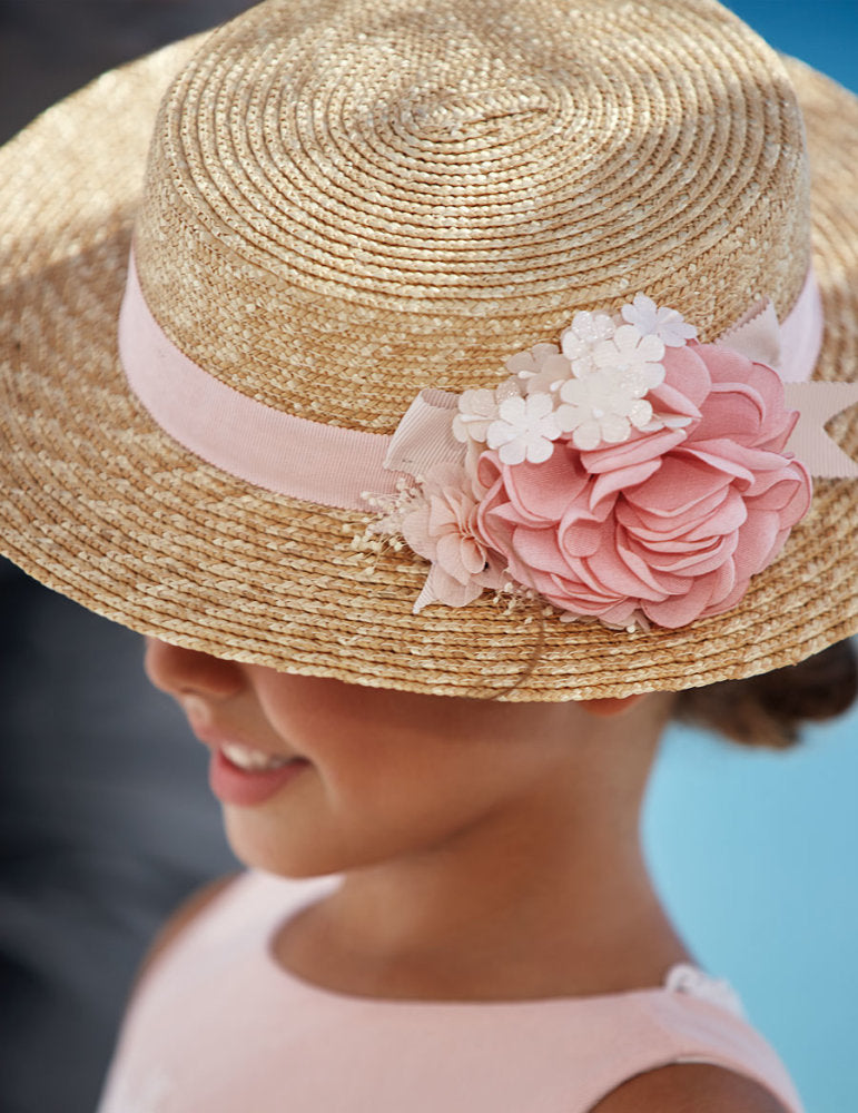 Floral Boater Hat for Girl Makeup