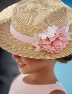 Load image into Gallery viewer, Floral Boater Hat for Girl Makeup