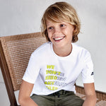 Load image into Gallery viewer, S/s Tshirt With Pocket for Teen Boy White