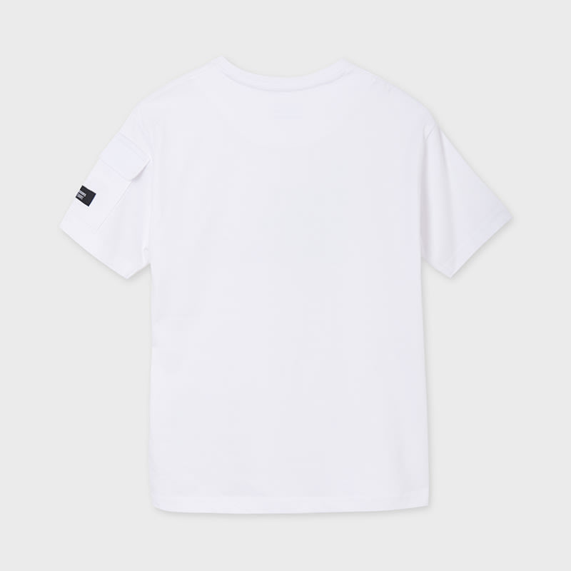 S/s Tshirt With Pocket for Teen Boy White