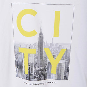 City T-shirt S/s for Teen Boy White