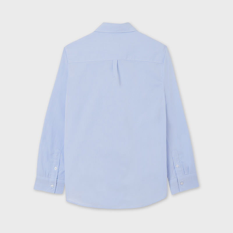 L/s Shirt Contrast for Teen Boy Lightblue