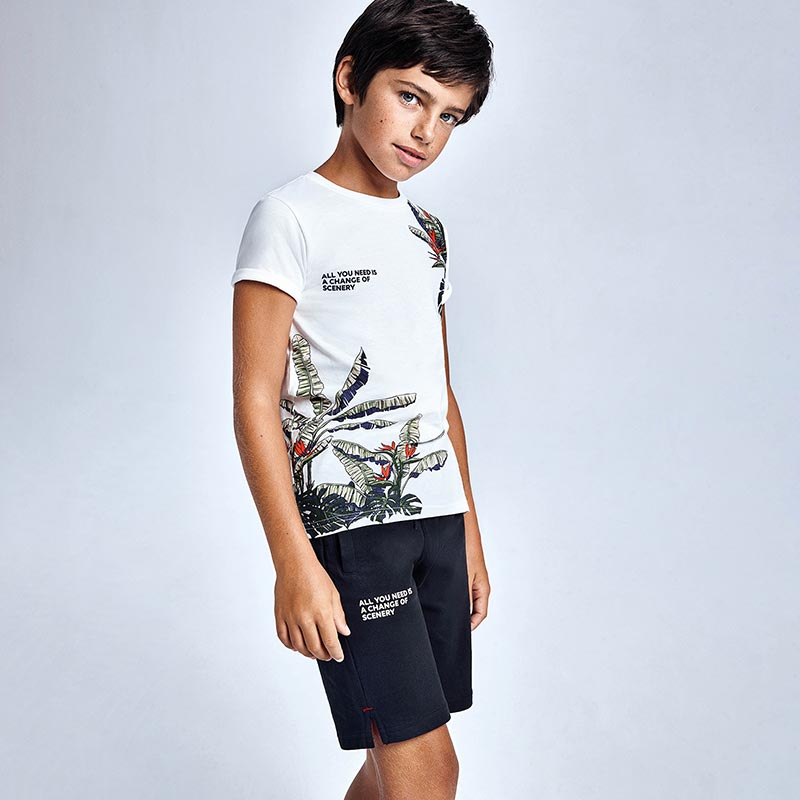 Tropical Print Set for Teen Boy Vynil