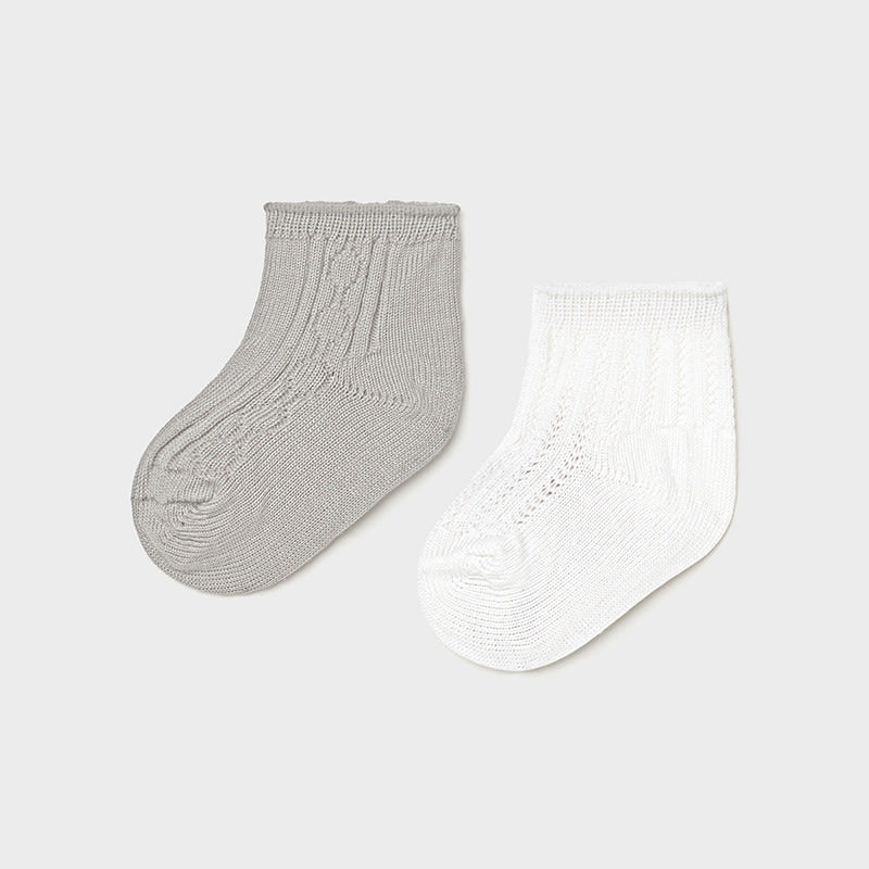 Dressy Socks Set for Newborn Boy Gray