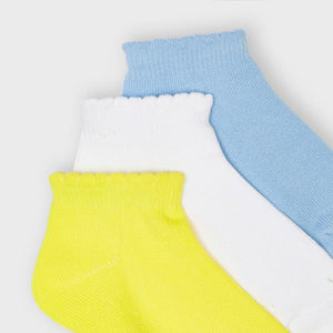 Set 3 Socks for Girl Lightblue