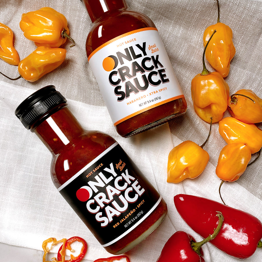 Only Crack Sauce Combo Pack • Red Jalapeño & Habanero Hot Sauce