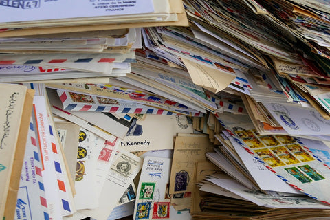 letters in pile