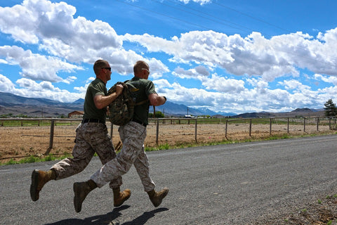 military, running in high heat