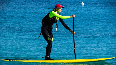 Woman on SUP