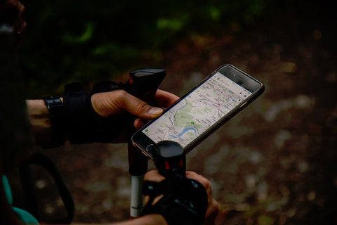 Hiking using gps on smartphone